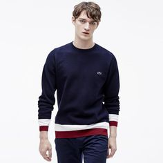 d5d5a3a34 Pull col rond Edition Made in France En coton Lacoste