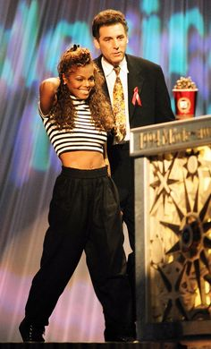 Janet Jackson accepting the MTV Movie Award for best female performance in Poetic Justice, in 1994