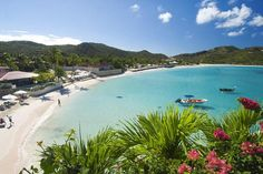 Saint Barthélemy Island in The Caribbean