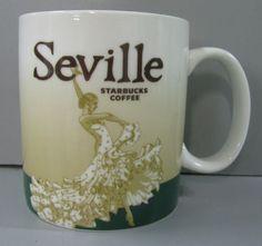 Starbucks Seville Sevilla Spain Coffee Cup Mug Green 2009 Collector Series 16oz  $569.99