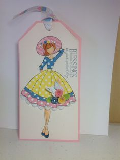 Julie Nutting Paperdoll Audrey made by JH Prima Paper Dolls, Prima Doll Stamps, Card Candy, Pretty Dolls, Stamp Collecting, Junk Journal, Gift Bags, Art Dolls, Whimsical