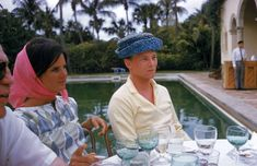 """""""Lilly Pulitzer at a pool party, Palm Beach, Florida, April Photo by Slim Aarons/Hulton Archive/Getty Images. of the Most Classic Slim Aarons Photos of All Time"""" Town and Country. Slim Aarons, The Brunette, Thing 1, Human Emotions, High Society, Attractive People, Palm Beach, Beach Pool, Lilly Pulitzer"""
