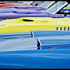 onedge70 — Mopar Rainbow  Photo: @mopar_swiss  #dodge... Rainbow Photo, Beautiful Lines, Car Show, Mopar, Muscle Cars, Dodge, Cartoons, Wheels, Bucket