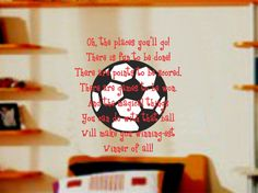 Sports Soccer and Dr. Seuss Quote Wall Decal Boy by AllOnTheWall, $24.00