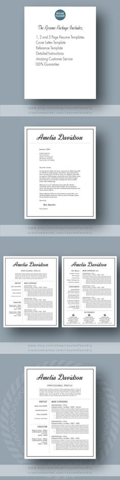 Professional Resume Template- Zoie Professional resume template