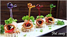 Ewa w kuchni: Mini kanapeczki z suszonym schabem Caramel Apples, Sushi, Cake, Ethnic Recipes, Party, Desserts, Poland, Food, Tailgate Desserts