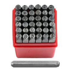 "1/4"" Professional 36pc Letter & Number Stamp Punch Set - 6mm Hardened Steel - Metal, Wood, Leather Jeweler's Tools http://www.amazon.com/dp/B005ESSZNC/ref=cm_sw_r_pi_dp_vbl4ub0CV4S70"