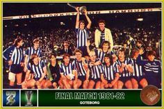 1982 UEFA Cup winners - IFK Gothenburg. Gothenburg, Europa League, Finals, Basketball Court, Wrestling, Football, Lucha Libre, Soccer, Futbol
