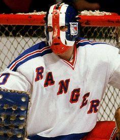 John Davidson / New York Rangers Hockey Helmet, Hockey Goalie, Hockey Players, Football Helmets, Rangers Hockey, Ice Hockey Teams, Hockey Stuff, Sports Teams, Sports Illustrated Kids