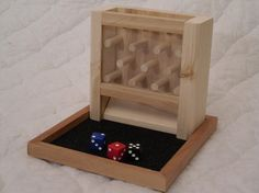 Small Wooden Dice Tower
