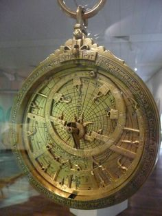 A specutacular Arabic astrolabe from Moorish Spain, made by Ibrahim ibn Said al-Sahli in 1086. They come with many exchangeable dials and is amazingly well preserved in the Landesmuseum Kassel, Germany. The instruments were displayed on the occasion of the fifth annual conference in November 2008 of the historical section of the Vereinigung der Sternfreunde (German Amateur Astronomical Society).