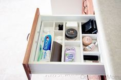 Cheap custom made bathroom drawer organizer!