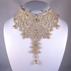 Sale Statement Necklace Lace Choker Bridal by kareninadesigns, $36.00