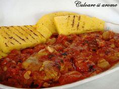 <p>Ingrediente:+–+3+pulpe+de+pui+dezosate+–+1+lingura+unt+–+3+catei+usturoi+–+300+g+ciuperci+din+conserva+–+1+ceapa+–+6+linguri+cu+pasta+de+gogosari+si+rosii+(sau+o+conserva+de+rosii+in+bulion)+–+10-12+rosii+cherry+–+1+lingura+faina+alba+–+…</p>