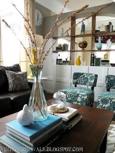 Vase & Cadman Chairs from Pier 1 in a trendy living space