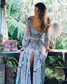 Always beautiful Adri ~ styled to perfection in our Pandora Gown + her gorgeous @mayan_gypsy pouch