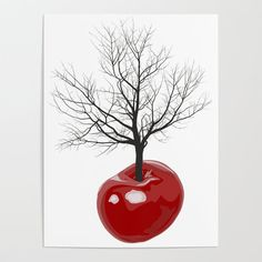Cherry tree of cherries Art Print by Vladimir Ceresnak - X-Small Cherry Tree, Diy Frame, Cool Diy, High Quality Images, Vibrant Colors, Blank Walls, Art Prints, Paper, Artwork