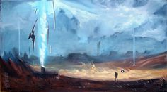 Novus Inceptio, a post-apocalyptic MMORPG, my favorite paintings out of all that I have made for Game Developer Session. 2 of them were already presented.
