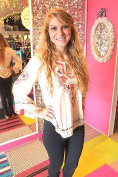Boho Pink & Ivory Tunic