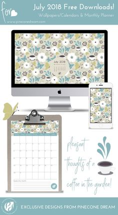 july 2018 desktop calendar wallpaper| july 2018 wallpapers | july 2018 backgrounds | July 2018 printable planner | July 2018 planner PDF free | squirrel wallpapers | illustrated background for mobiles | floral wallpapers | coffee in the garden | garden wallpapers | iPhone backgrounds | pretty iPhone wallpapers | graphical desktop wallpapers nature