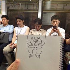 Jon Burgerman doodle