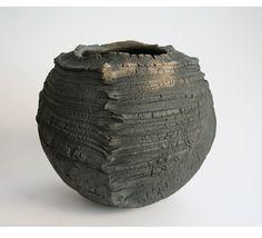 ***Patricia Shone, 'Erosion bowl 5', ht 17cm dia. 19cm, raku fired ceramic, 2014.