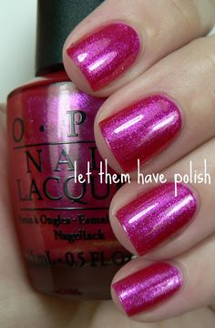 """Opi nail polish-Be a dahlia won't you for the """"best women's"""" nails?  Mani or Pedi?! I have it and could bring it with..."""