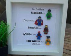 Personalisierte LEGO Style Superhelden Frame von MakeItExtraSpecial