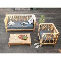 1000 ideas about canape salon on pinterest exposed - Table teck jardin ...