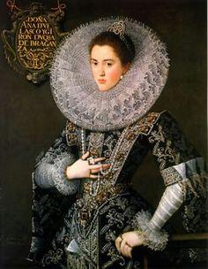 Portrait de Ana de Velasco y Girón , duchesse de Bragance, 1603 Juan Pantoja de la Cruz