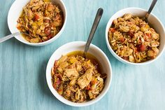 slow cooker chicken provencal recipe serves 4 and serving size is 1 cup this recipe is low calorie low fat and low carb view of 3 bowls of the dish