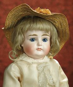 The Memory of All That - Marquis Antique Doll Auction: 225 German Bisque Child, Rare Model XI, with Closed Mouth by Kestner