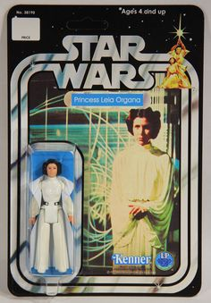 L002185 Star Wars 1977 Action Figure / Princess Leia Organa / RECARDED 12 Back #Kenner