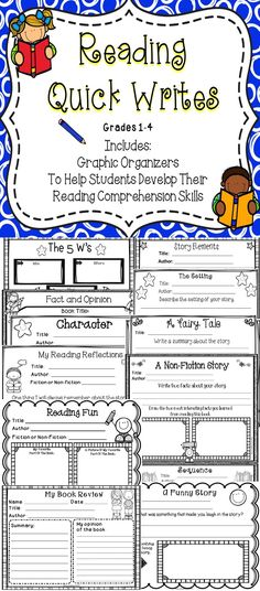 Reading Comprehension Graphic Organizers For The Classroom - A great set of quick reading response graphic organizers for students!
