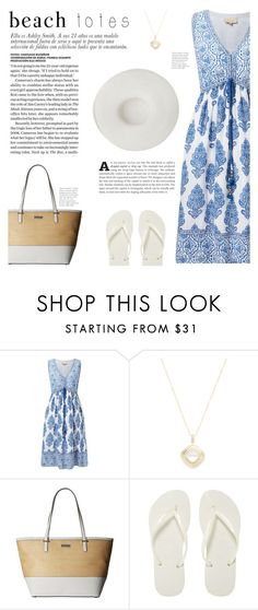 """""""In the Bag: Beach Totes"""" by katsin90 ❤ liked on Polyvore featuring EAST, Anna Beck, Kate Spade, Havaianas, Yestadt Millinery and beachtotes"""
