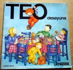 La infancia en los 80...: Teo desayuna