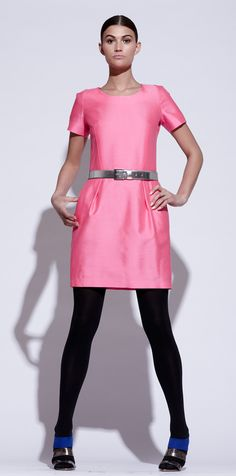 Pink Tartan Dress Skirt, Dress Up, Pretty In Pink, Tartan, Style Me, Fashion Inspiration, Stockings, Dresses For Work, Colour