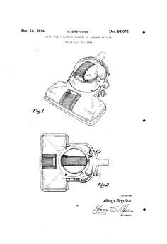 Hoover model 825 design by Henry Dreyfuss.