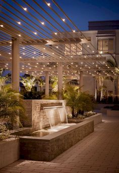 Beautiful outdoor lighting beautiful home decor lighting decorations exterior design ideas exterior design water feature. For the house in Jamaica Backyard Lighting, Outdoor Lighting, Rustic Lighting, Garden Lighting Ideas, Industrial Lighting, Modern Lighting, Backyard Patio, Backyard Landscaping, Patio Wall
