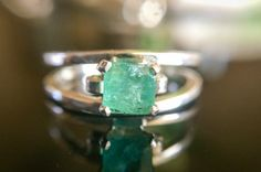 24 Gorgeous Emerald Engagement Rings for the Alternative Bride via Brit + Co