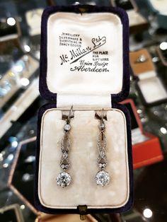 Edwardian Jewelry, Antique Jewelry, Farah Diba, Silverware Jewelry, Earring Set, Dog Tag Necklace, Diamond Cuts, Period, Fancy