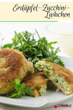 """Das Glück liegt in der Vielfalt: Ein echter Klassiker in unserer Veggie-Küche: Gemüselaibchen! 😋😍 Über die Zutaten, die in ein echtes vegetarisches """"Laberl"""", wie wir Österreicher sie umgangssprachlich nennen, hineingehören muss man hierzulande nicht streiten. Kartoffeln 🥔, Gemüse 🥒, Käse 🧀 und Gewürze - that's it! Die runden Bällchen kommen gerne auf den Tisch und sind beliebt bei Jung und Alt! Holiday Booking, Cute Cafe, Plant Based Nutrition, Things Under A Microscope, Nutrition Plans, Salmon Burgers, Bagel, Food And Drink, Low Carb"""