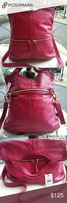 Fossil Erin tote orchid nwt New bag,fold over Fossil Bags