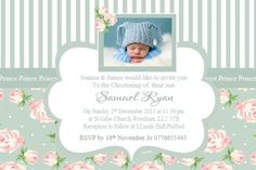 personalised photograph Christening Baptism Invitations Girls or Boys ie.picclick.com