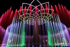 Expo Milano 2015 - Milan, Italy Milan Italy, Fountain, Neon Signs, Crystals, Water Fountains, Crystal, Crystals Minerals
