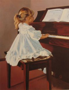 'First Notes' by Maurade Baynton   http://www.picturethisgallery.com/Artists/Maurade_Baynton_Children_of_the_Festival.asp