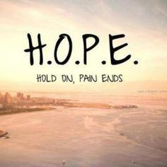 Tieni duro...il dolore finirà!