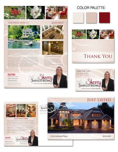 Sherry's unique real estate #branding conveys welcome and professionalism, a treat for the eyes!