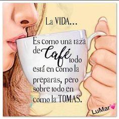 #lavida Love Phrases, Coffee Drinks, Addiction, Mugs, Quotes, Caffeine, Inspiration, Painting, Chanel Quotes