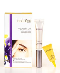 Discover the exceptional power of this eye care duo to instantly lift & brighten the eye area for a younger, rested and glowing look. Containing protective Iris Essential Oil, DECLÉOR's Lift & Brighten Eye Cream combines a massage applicator with a double-action formula and actively works together with our anti-fatigue Serum Hydrotenseur to smooth lines and wrinkles and firm skin around the eye area for a rested, radiant look.